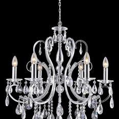 Traditional chandeliers find chandeliers online designer princess 6 arm chandelier w62 chandeliers aloadofball Images