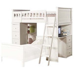 Acme Furniture - Willoughby Loft Bed, White - Add a whimsical element to your child's bedroom with the Willoughby Loft Bed, shown here in white. A built-in desk and storage drawers give your little one a spot to work, while a ladder and guardrail blaze the trail to bed. Like the other pieces in Acme Furniture's product line, this piece offers an updated interpretation of familiar designs.