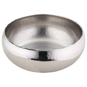 Hammered Stainless Steel Salad Bowl
