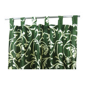 "Mogul Interior - Patterned Curtains Luxurious Drapes Drapery Window Panels Pair Tab Top, 48""x96"" - Curtains"