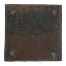 """Rivet Design Hammered Copper Tile, 4""""x 4"""""""