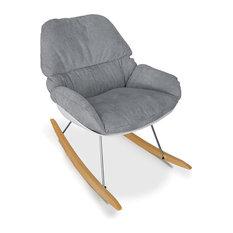 Pkolino - Nursery Rocking Chair Grey - Rocking Chairs  sc 1 st  Houzz & 50 Most Popular Contemporary Rocking Chairs for 2018 | Houzz