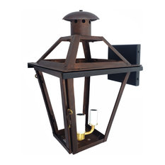 French Quarter Copper Lantern Made in the USA, Black Powder Coat, 21, Electric(t