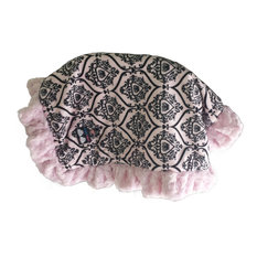 Bessie and Barnie Pet Blanket, Large, Versailles Pink, With Ruffle