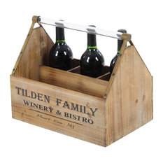 "GwG Outlet Wooden Acrylic Wine Holder 14""x12"""