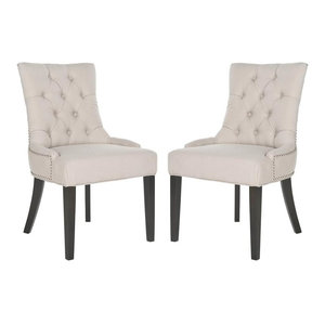 Harlow Tufted Ring Chairs, Set of 2, Taupe, Fabric