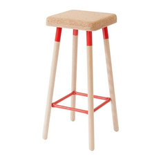 Marco Low Bar Stool, Red