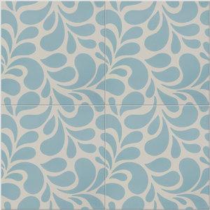 Splash Pattern Tiles, Sky, Set of 12