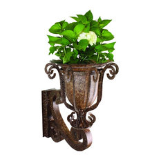Iron and Tole Wall Planter
