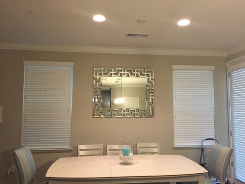 Mirror Behind Dining Table