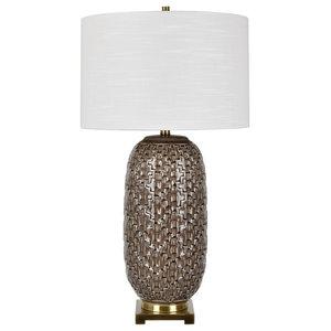 "Korbel Champagne Gray Table Lamp, 30.5"""