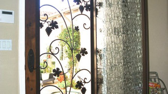 Before & After - Wrought Iron & Beveled Glass Door Inserts