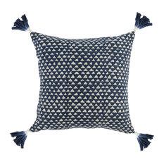 """Kosas - Taka 100% Cotton 20"""" Throw Pillow by Kosas Home, Blue - Decorative Pillows"""