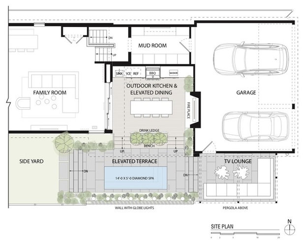 Contemporary Site And Landscape Plan by dSPACE Studio Ltd, AIA