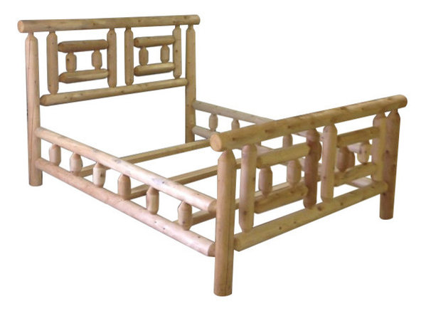 Cabin Cedar Bed Frame - Craftsman - Panel Beds - by Motto\'s Cedar ...