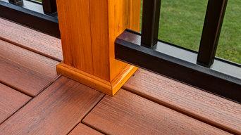 Detail of post trim and careful craftsmanship