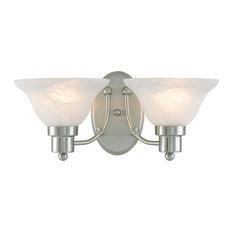 Hardware House 2 Light Bristol Bathroom Light, Satin Nickel