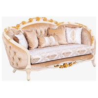 European Furniture Valentine II Wood Trim Love Seat