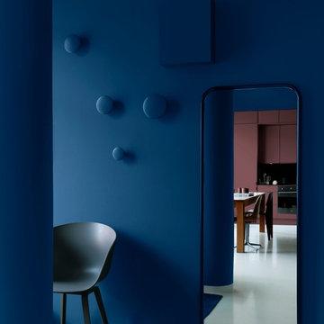 Rum i blått