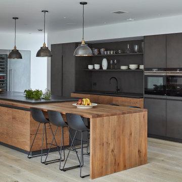 Rustic Oak and Concrete Kitchen
