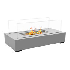 Regal Flame   Regal Flame Utopia Ventless Tabletop Portable Bio Ethanol  Fireplace, Gray   Tabletop