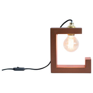 Riga Table Lamp, Oxide Red