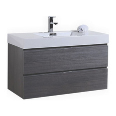 Kubebath Bottega Vanity Gray 40 Bathroom Vanities And Sink Consoles
