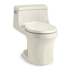 Kohler San Souci 1-Piece Round 1.28 GPF Toilet, Biscuit