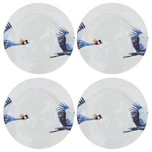 Crane Side Plates, Set of 4