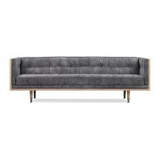 Kardiel Woodrow Mid-century Modern Box 87-inch Sofa Elefante