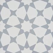 """8""""x8"""" Medina Handmade Cement Tile, White,Gray, Set of 12"""