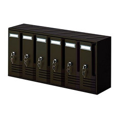 Contemporary Letterboxes, Cast Iron With Block of 6-Cassette Postal