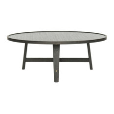 Safavieh Malone Retro Mid Century Wood Coffee Table Dark Gray Tables