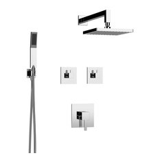 Delia Shower Set - Two Functions, Polished Chrome