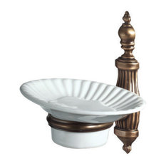 Ondine Bronze Toilet Soap Dish With Wall Attachment, Single