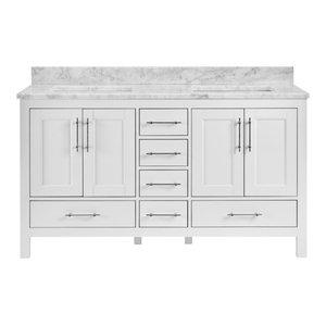 Kendall White Bathroom Vanity, 60
