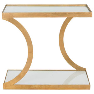 Safavieh Hutton Accent Table, Gold and White