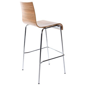 Tall Cobe Bar Stool, Zebrano