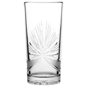 Decorative Star Lead Crystal Highball Glasses, Set of 6