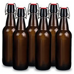 YEBODA - Yeboda 12 Oz Amber Glass Beer Bottles For Home Brewing With Flip Caps, Set Of 9, - YEBODA 12 oz Amber Glass Beer Bottles for Home Brewing with Flip Caps, Set of 6