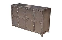 Austin Classic Iron 4 Door Industrial Buffet Cabinet