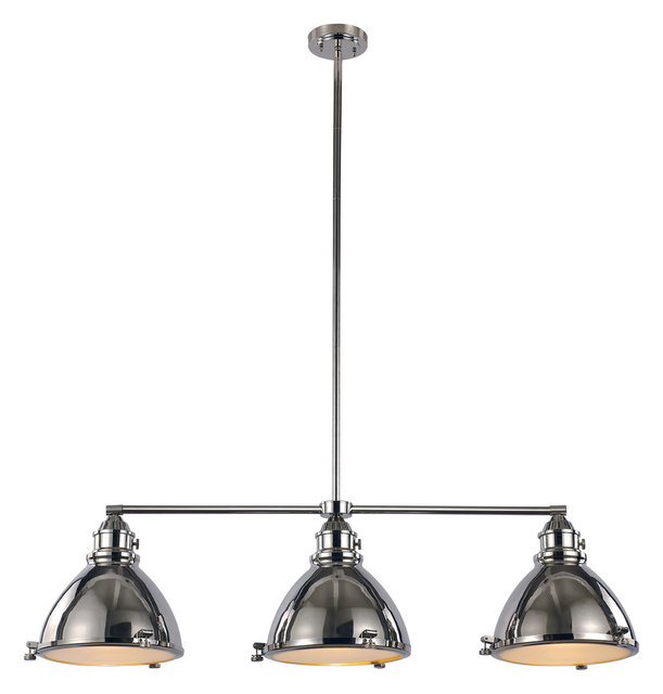 Signature 3 light island lights polished nickel