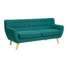 LexMod   Remark Sofa, Teal   Sofas