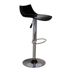 design tree home black lucite seat adjustable swivel bar stool bar stools and counter