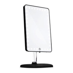 Touch Pro LED Makeup Mirror With Bluetooth Speakerphone and USB Charger, Black