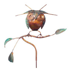 Handcrafted Copper Owl Garden Stake