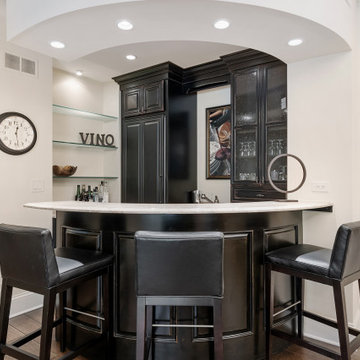 Curved Cozy Wet Bar