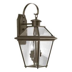 Burlington 2-Light Med Wall Lantern, Antique Bronze