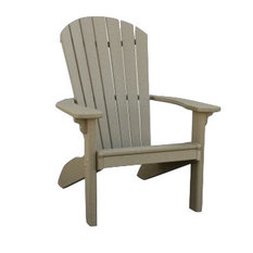 Recycled Plastic Adirondack Chair, Weathered Wood