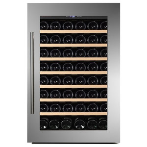Dunavox 48 Bottle Fully Integrated Single Zone Wine Fridge, Stainless Steel